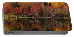 Autumn Reflections Portable Battery Charger by Leland D Howard