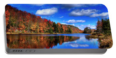 Autumn Reflections On Bald Mountain Pond Portable Battery Charger