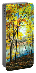 Autumn River Walk Portable Battery Charger