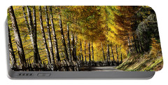 Winding Road Through The Autumn Trees Portable Battery Charger