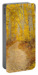 Autumn Road Portable Battery Charger by Leland D Howard