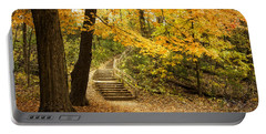 Autumn Stairs Portable Battery Charger