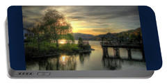 Portable Battery Charger featuring the photograph Autumn Sunset by Nicola Nobile