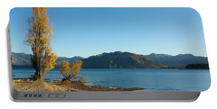 Autumn Trees At Lake Wanaka Portable Battery Charger by Stuart Litoff