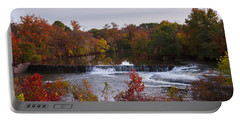 Portable Battery Charger featuring the photograph Refreshing Waterfalls Autumn Trees On The Stones River Tennessee by Jerry Cowart