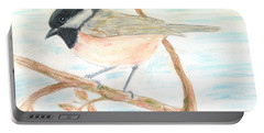 Portable Battery Charger featuring the painting Autumn Visitor by Stephanie Grant