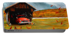 Autumnal Restful View-farm Scene Paintings Portable Battery Charger