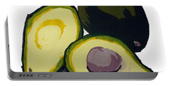 Avocado  Portable Battery Charger by Joyce  Wasser