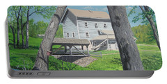 Award-winning Painting Of Beckman's Mill Portable Battery Charger by Norm Starks
