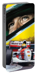 Ayrton Senna Artwork Portable Battery Charger