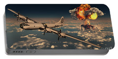 B-29 Superfortress Flying Away Portable Battery Charger