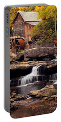 Portable Battery Charger featuring the photograph Babcock Grist Mill And Falls by Jerry Fornarotto