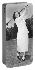 Babe Didrikson Golfing Portable Battery Charger