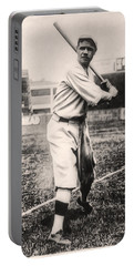 Babe Ruth Portable Battery Charger by Bill Cannon