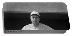 Babe Ruth In Red Sox Uniform Portable Battery Charger by Underwood Archives