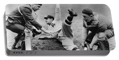 Babe Ruth Slides Home Portable Battery Charger by Underwood Archives