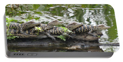 Baby Alligators Portable Battery Charger by Dan Sproul