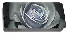 Portable Battery Charger featuring the photograph Baby Blue Rose by Savannah Gibbs