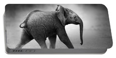 Baby Elephant Running Portable Battery Charger