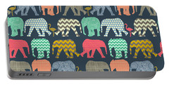Baby Elephants And Flamingos Portable Battery Charger