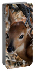 Baby Face Fawn Portable Battery Charger by Athena Mckinzie