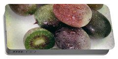Baby Kiwi With Text Distressed Portable Battery Charger by Iris Richardson