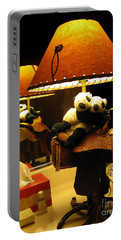 Baby Pandas In A Saddle  Portable Battery Charger by Ausra Huntington nee Paulauskaite