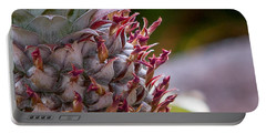 Baby White Pineapple Portable Battery Charger by Denise Bird
