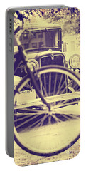 Portable Battery Charger featuring the digital art Back In Time by Erika Weber