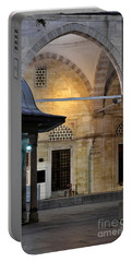 Portable Battery Charger featuring the photograph Back Lit Interior Of Mosque  by Imran Ahmed