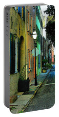 Portable Battery Charger featuring the photograph Back Street In Charleston by Rodney Lee Williams