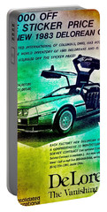 Back To The Delorean Portable Battery Charger