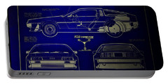 Back To The Future Delorean Blueprint 2 Portable Battery Charger