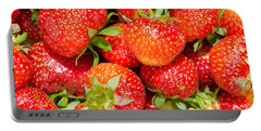 Portable Battery Charger featuring the photograph Background Of Strawberries by Kennerth and Birgitta Kullman