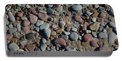 Portable Battery Charger featuring the photograph Background Of Wet Pebbles And Sand by Kennerth and Birgitta Kullman