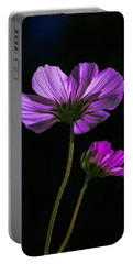 Backlit Blossoms Portable Battery Charger by Marty Saccone