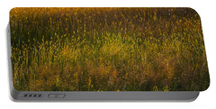 Portable Battery Charger featuring the photograph Backlit Meadow Grasses by Marty Saccone