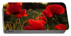 Backlit Red Poppies Portable Battery Charger