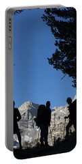 Backpackers Silhouetted Portable Battery Charger