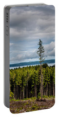 Logging Road Ocean View  Portable Battery Charger