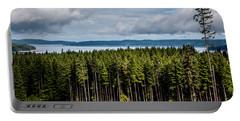 Logging Road Landscape Portable Battery Charger