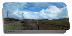 Backroads- Telephone Poles- And Barbed Wire Fences Portable Battery Charger