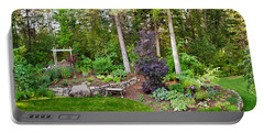 Backyard Garden In Loon Lake, Spokane Portable Battery Charger by Panoramic Images