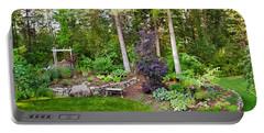Backyard Garden In Loon Lake, Spokane Portable Battery Charger