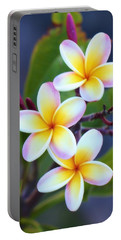 Backyard Plumeria Portable Battery Charger