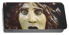 Portable Battery Charger featuring the photograph bad hair day at d'Orsay museum, Paris.  by Joe Schofield