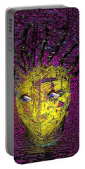 Bad Hair Day Portable Battery Charger by Irma BACKELANT GALLERIES