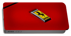 Badge In Red Portable Battery Charger by Dean Ferreira