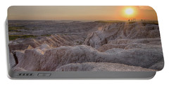 Badlands Overlook Sunset Portable Battery Charger