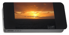 Portable Battery Charger featuring the photograph Bahamas Ocean Sunset by John Telfer